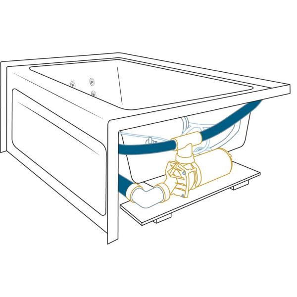 Jacuzzi Cetra 60 In X 32 In Acrylic Left Drain Rectangular Alcove Whirlpool Bathtub In White Cts6032wlr2xxw The Home Depot