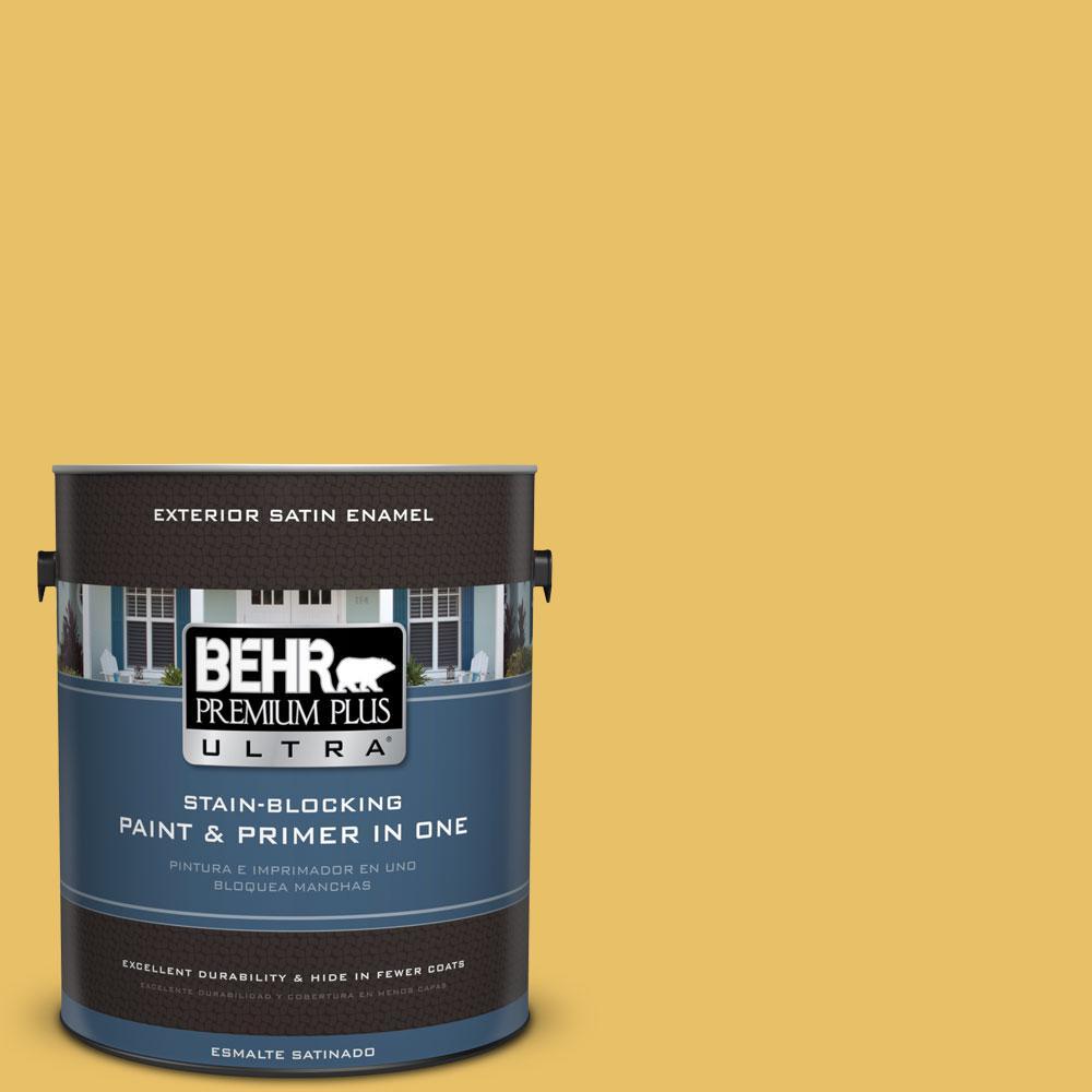 BEHR Premium Plus Ultra 1-gal. #360D-5 Golden Chalice Satin Enamel Exterior Paint