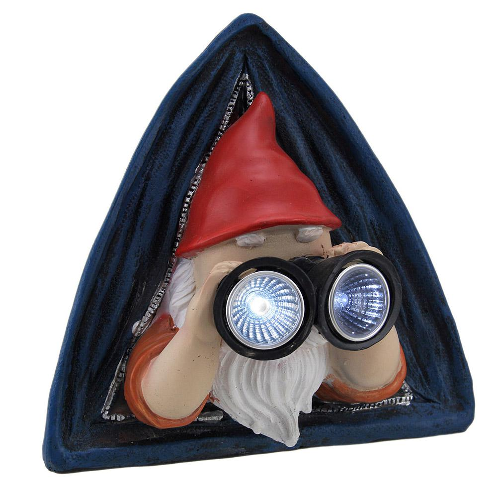 2558464d0cd Rustic Backyard Camping Gnome in Tent Solar Powered LED Garden ...