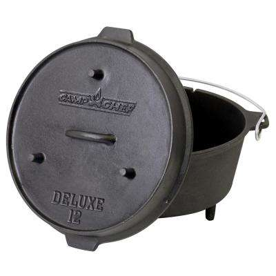 Deluxe Preseasoned Cast Iron 12 in. Dutch Oven