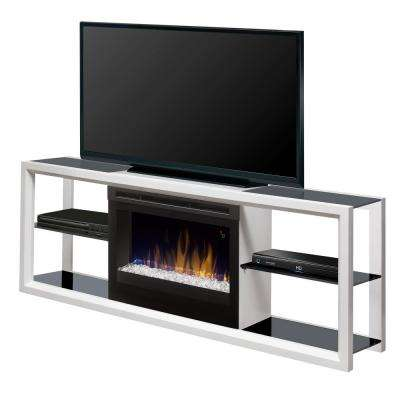 Novara 64 in. Freestanding Electric Fireplace TV Stand Media Console in White