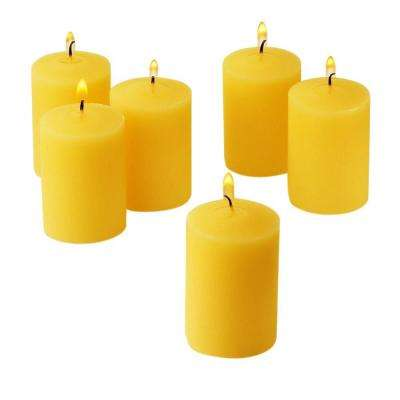 Citronella Yellow Scented Votive Candles (Set of 36)