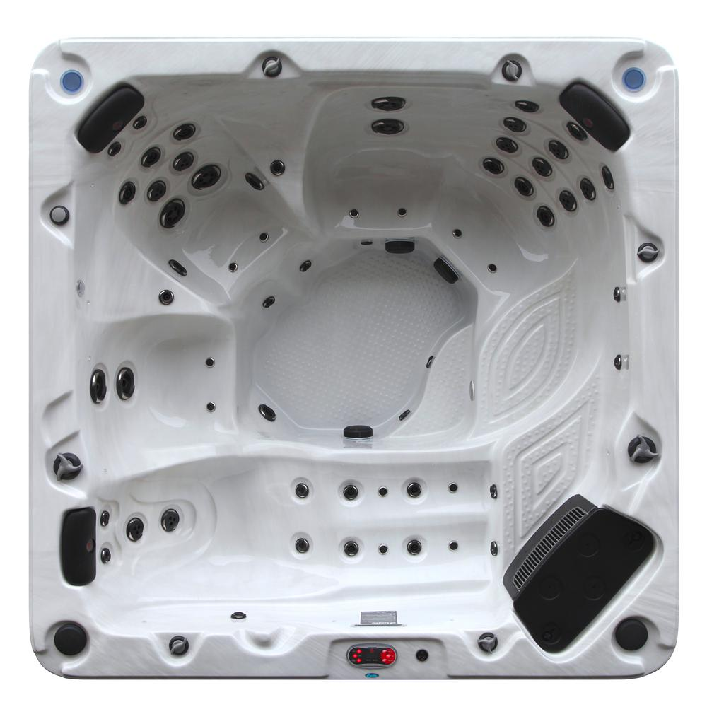 Canadian Spa Company Niagara 7-Person 60 Jet Acrylic Hot Tub with 60 ...