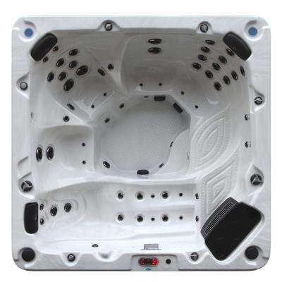 Niagara 7-Person 60 Jet Acrylic Hot Tub with 60 Jets, Waterfall, Aromatherapy, Pop-Up LED Speakers, and Ozone Filtration