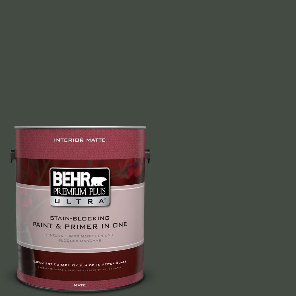 1 gal. #PPF-55 Forest Floor Matte Interior Paint and Primer in