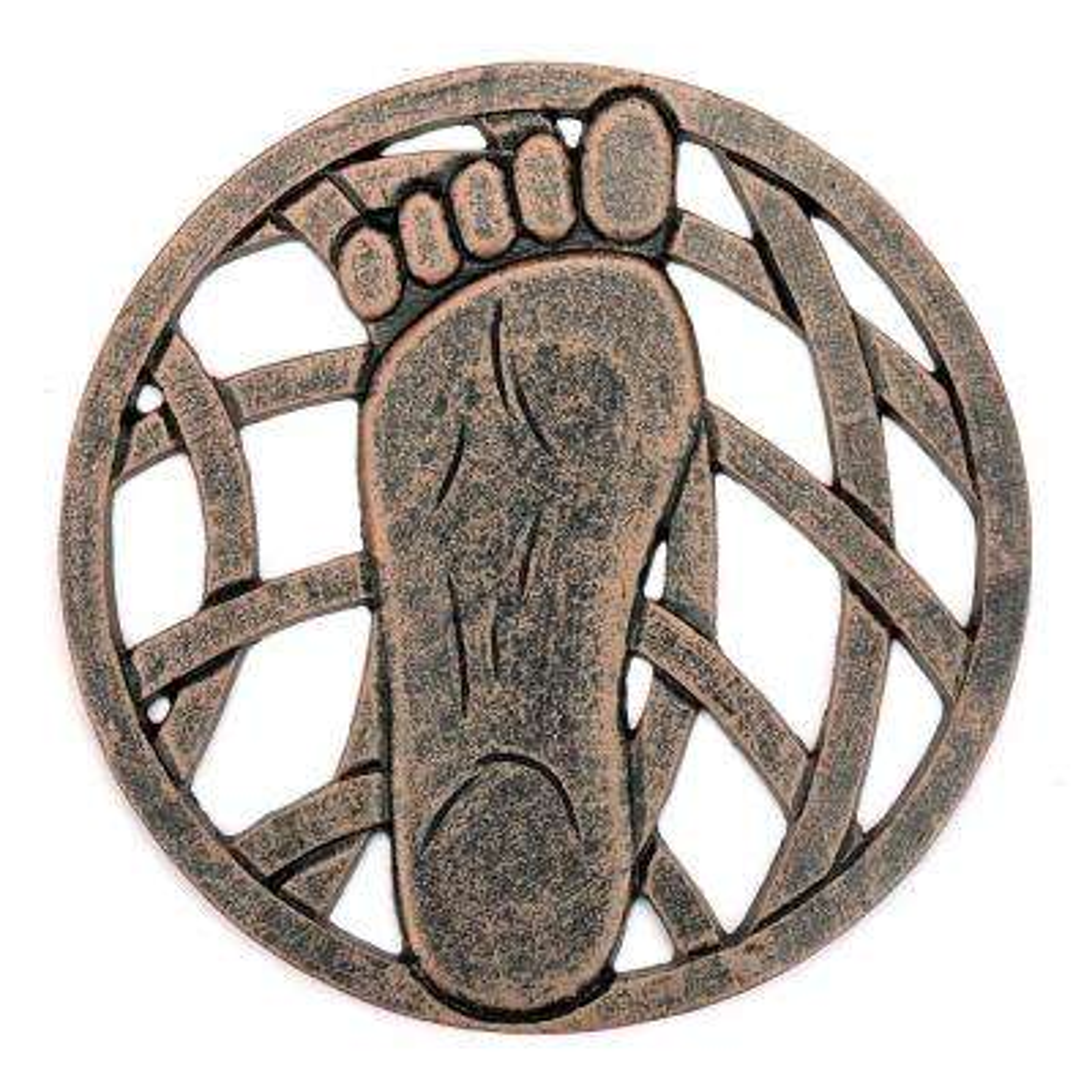 Stepping Stone Left Foot - Cast Aluminum