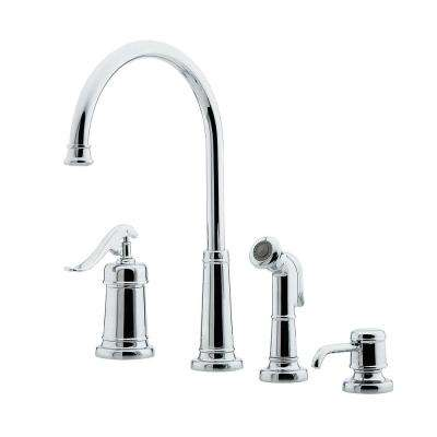 Ashfield Single-Handle Standard Kitchen Faucet in Polished Chrome