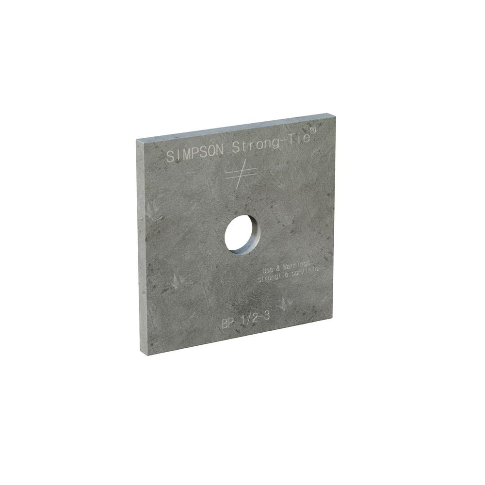 3 in. x 3 in. Hot-Dip Galvanized Bearing Plate with 1/2