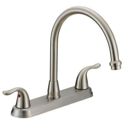 Impression Collection 2-Handle Standard Kitchen Faucet in Brushed Nickel
