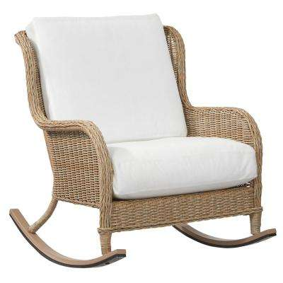 wicker rocking chair. Lemon Grove Custom Wicker Outdoor Rocking Chair With Cushions Included, Choose O