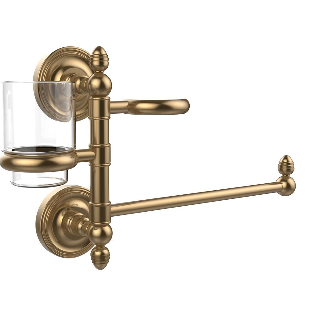Allied Brass Prestige Regal Collection Hair Dryer Holder and Organizer in Brushed Bronze