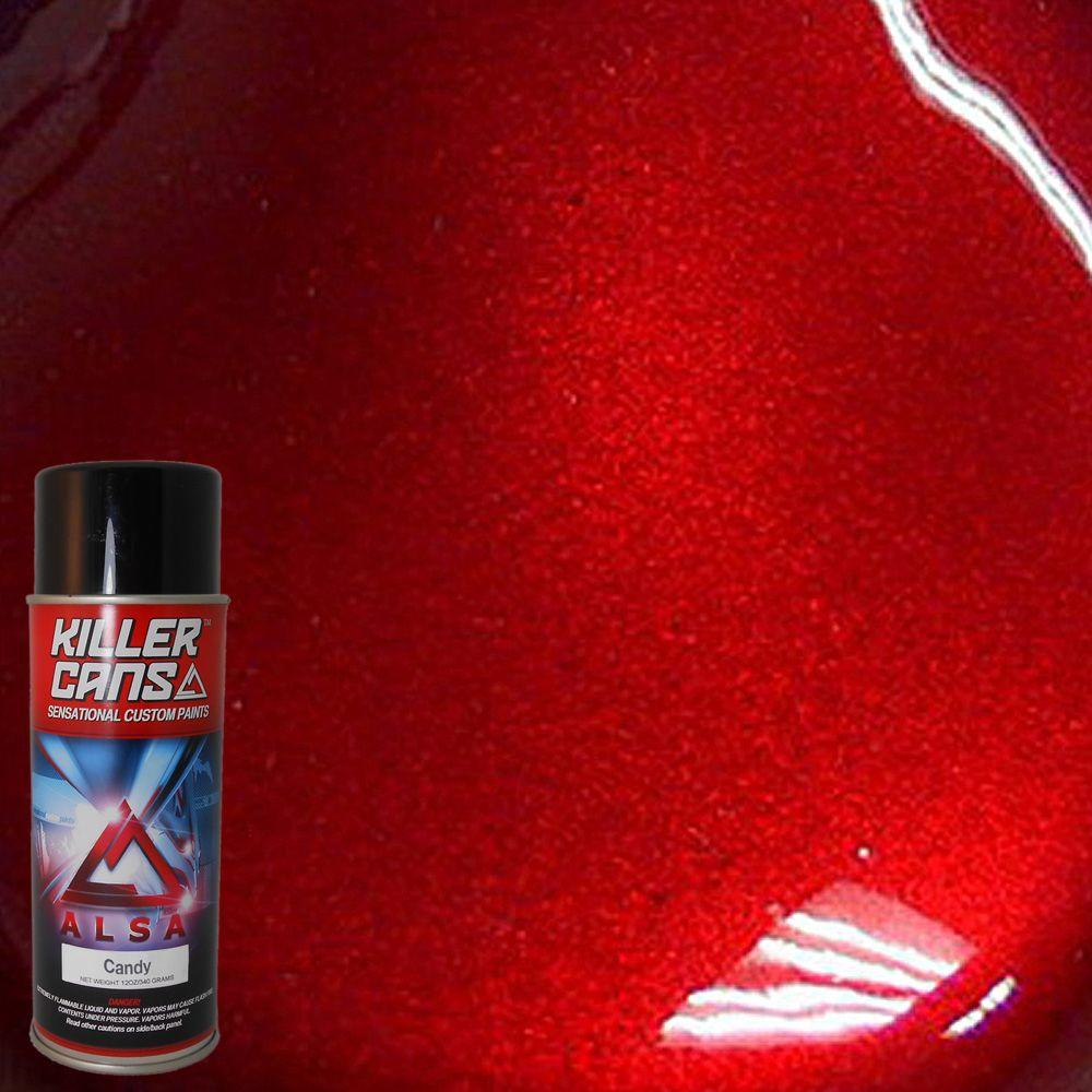 Alsa Refinish 12 Oz Candy Blood Red Killer Cans Spray Paint Kc Bd The Home Depot