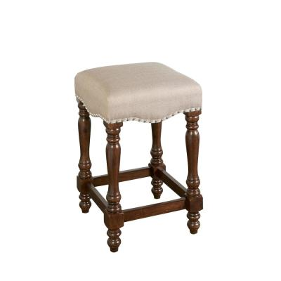 Willow Brown Backless 24 in. Counter Stool