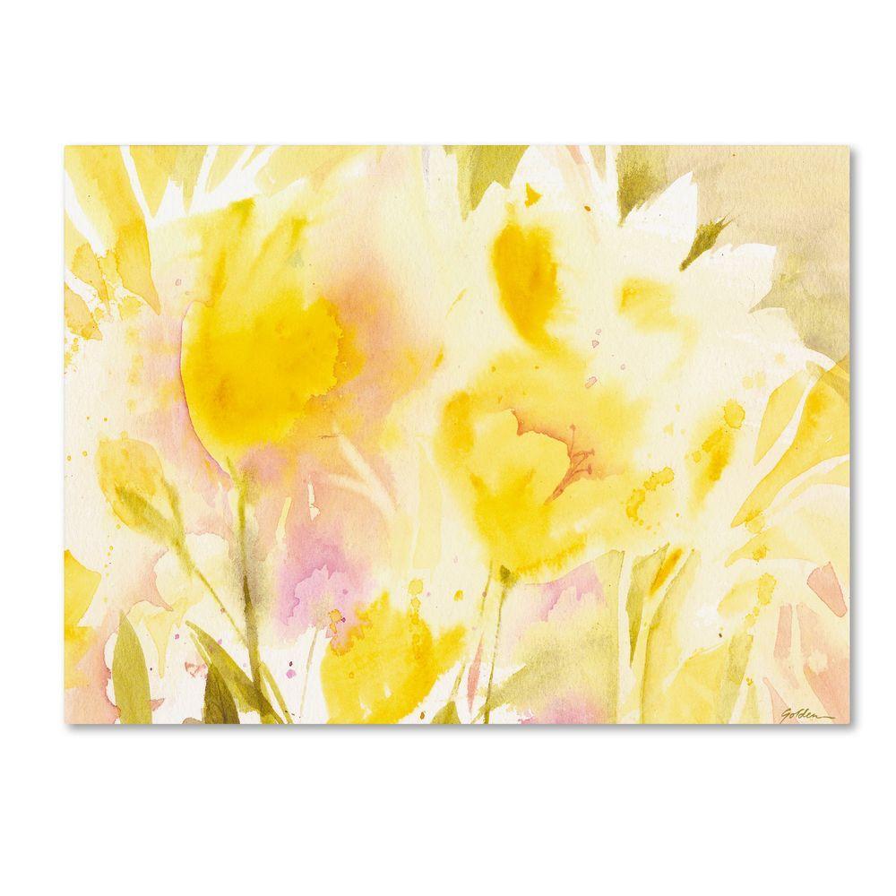 16 in. x 24 in. Yellow Gardens Canvas Art