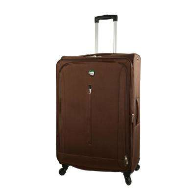 Tena 28 in. Brown Soft Side Spinner Suitcase