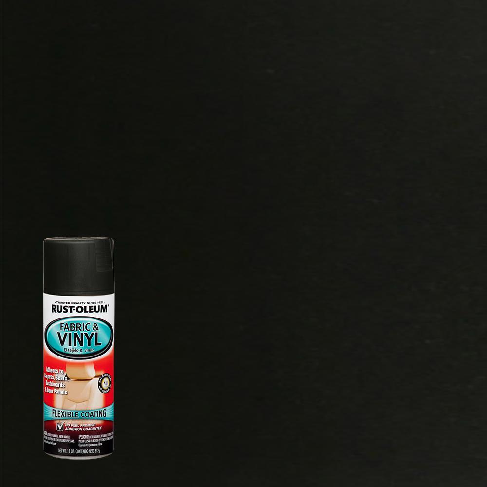 11 oz. Flat Black Fabric & Vinyl Spray (6-Pack)