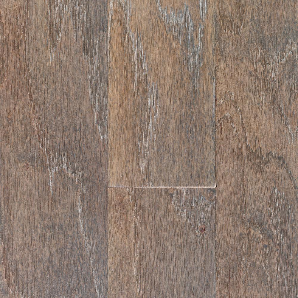 Blue Ridge Hardwood Flooring Oak Driftwood Wire Brushed 3/8 In. T X 5 In. W X Random Length Engineered Locking Hardwood Flooring (24.5 Sq. Ft. /case),