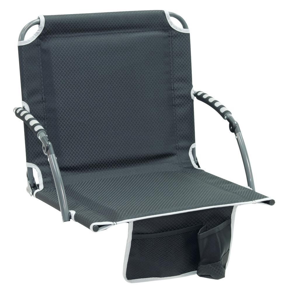 Strange Rio Bleacher Boss Pal Black Folding Stadium Seat With Padded Armrests Ibusinesslaw Wood Chair Design Ideas Ibusinesslaworg