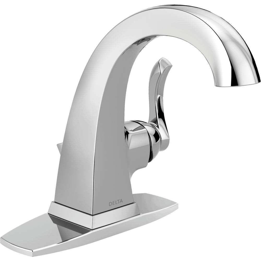 Delta Everly 4 in. Centerset Single-Handle Bathroom Faucet in Chrome