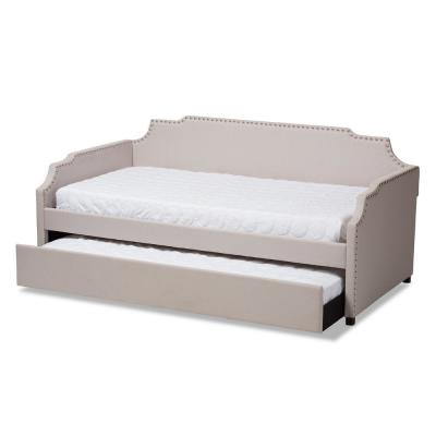 Ally Beige Twin Daybed with Trundle