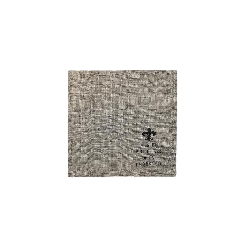 5-1/2 in. x 5-1/2 in. Beige Linen Napkins (Set of 4)