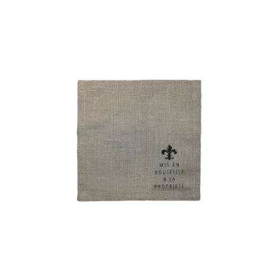 5-1/2 in. x 5-1/2 in. Beige Linen Napkins (Set of 4)