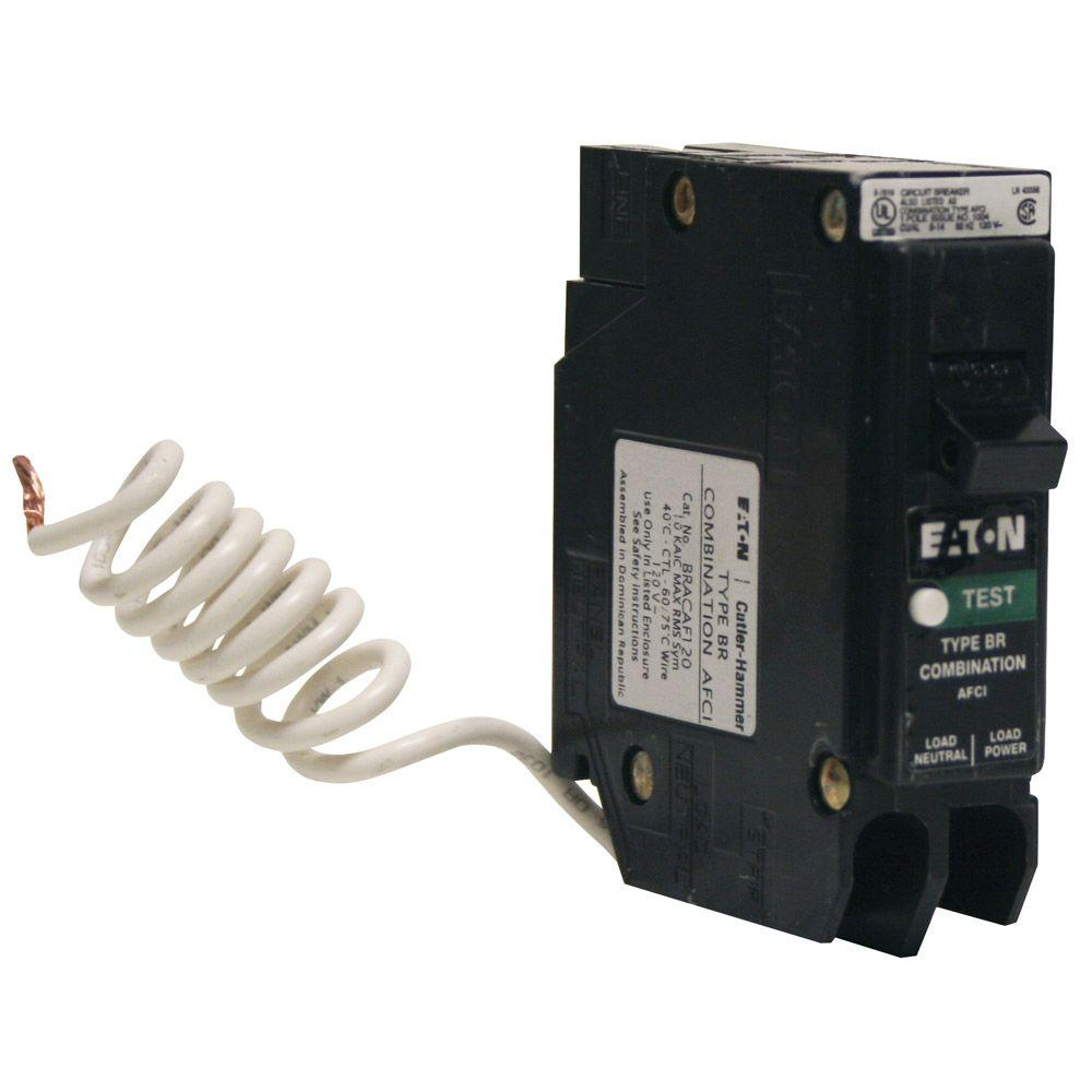 Eaton BR 15 Amp Single-Pole Combination Arc Fault Circuit Breaker ...