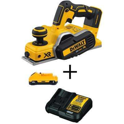 20-Volt MAX Lithium-Ion Cordless Brushless 3-1/4 in. Planer (Tool-Only) with Free 20-Volt MAX Battery 3.0Ah & Charger