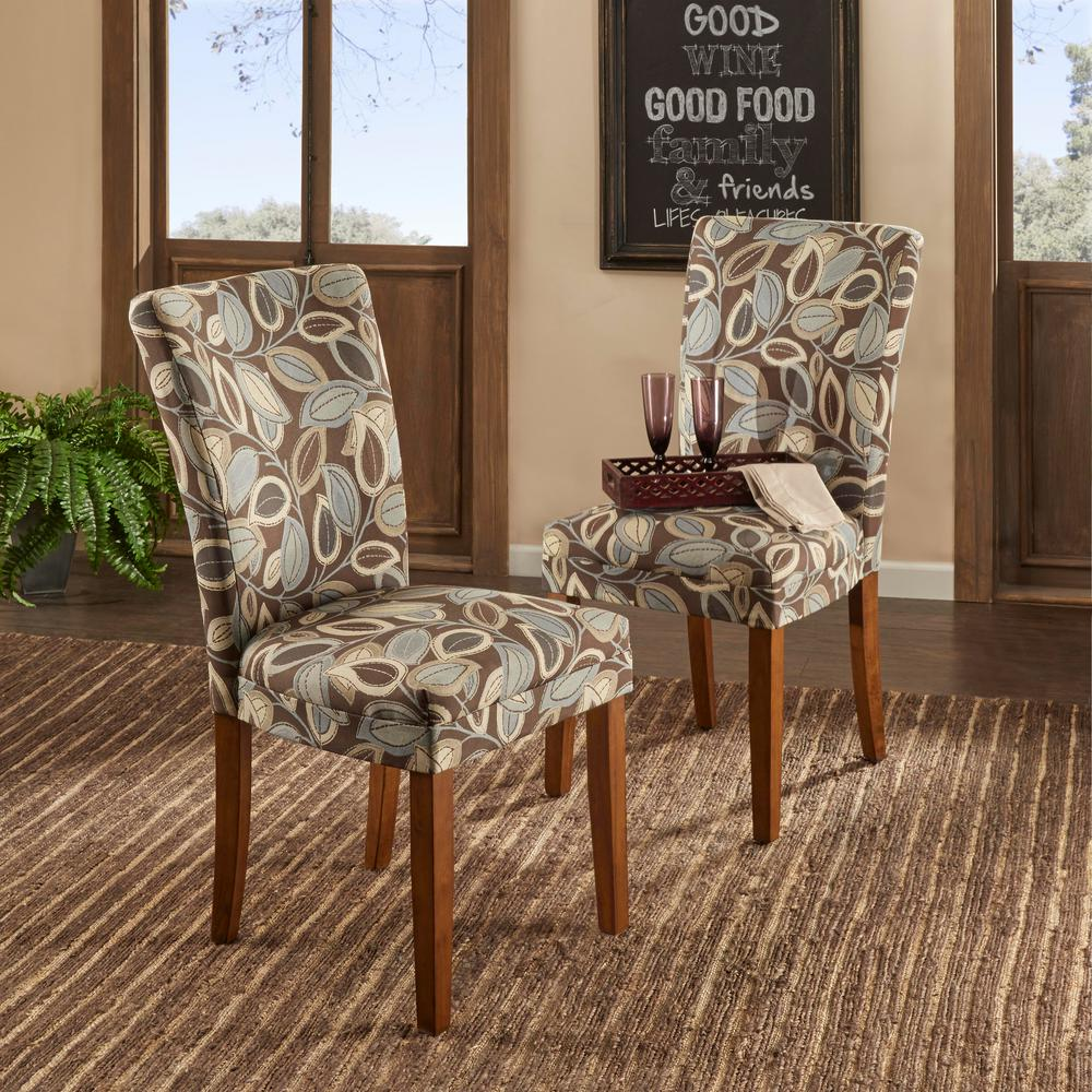 Merveilleux Leaves Print Side Chair (Set Of 2)
