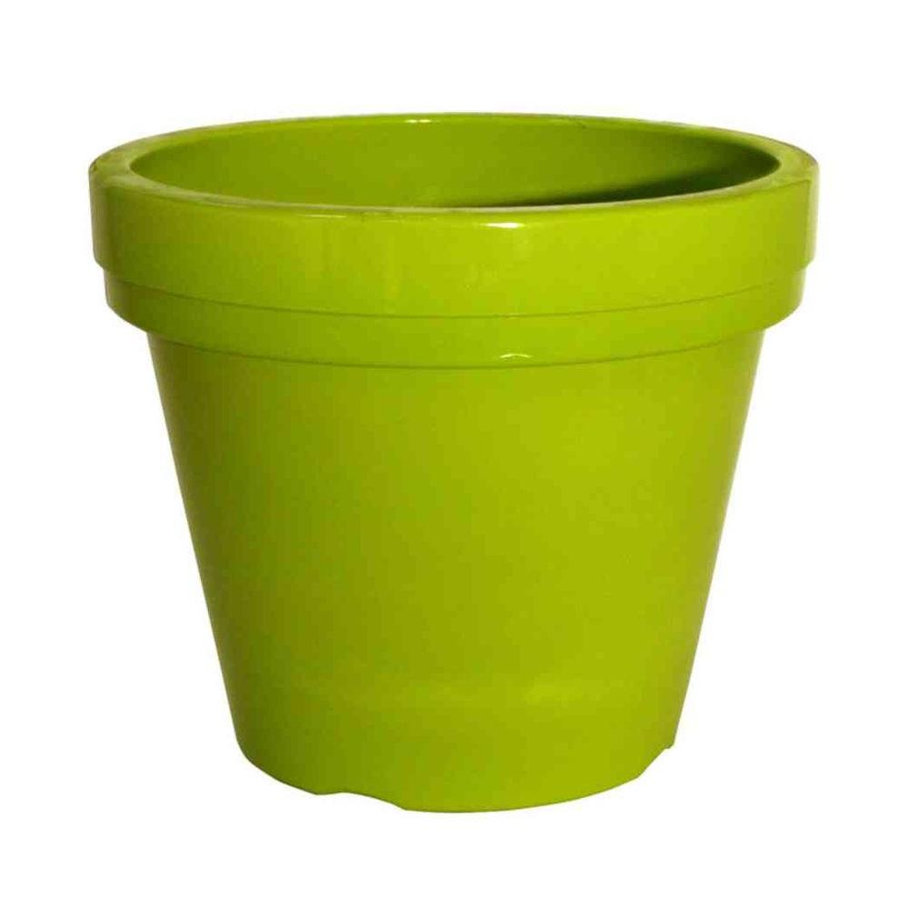 Southern Patio 13 in. Limeade High-Density Resin Puritan Planter-DISCONTINUED