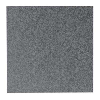 Hammered Pattern 19.69 in. x 19.69 in. Charcoal Rubber Tile