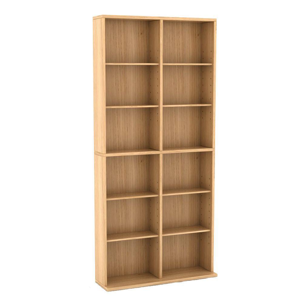 Atlantic Oskar Adjustable Media Cabinet 464 Maple