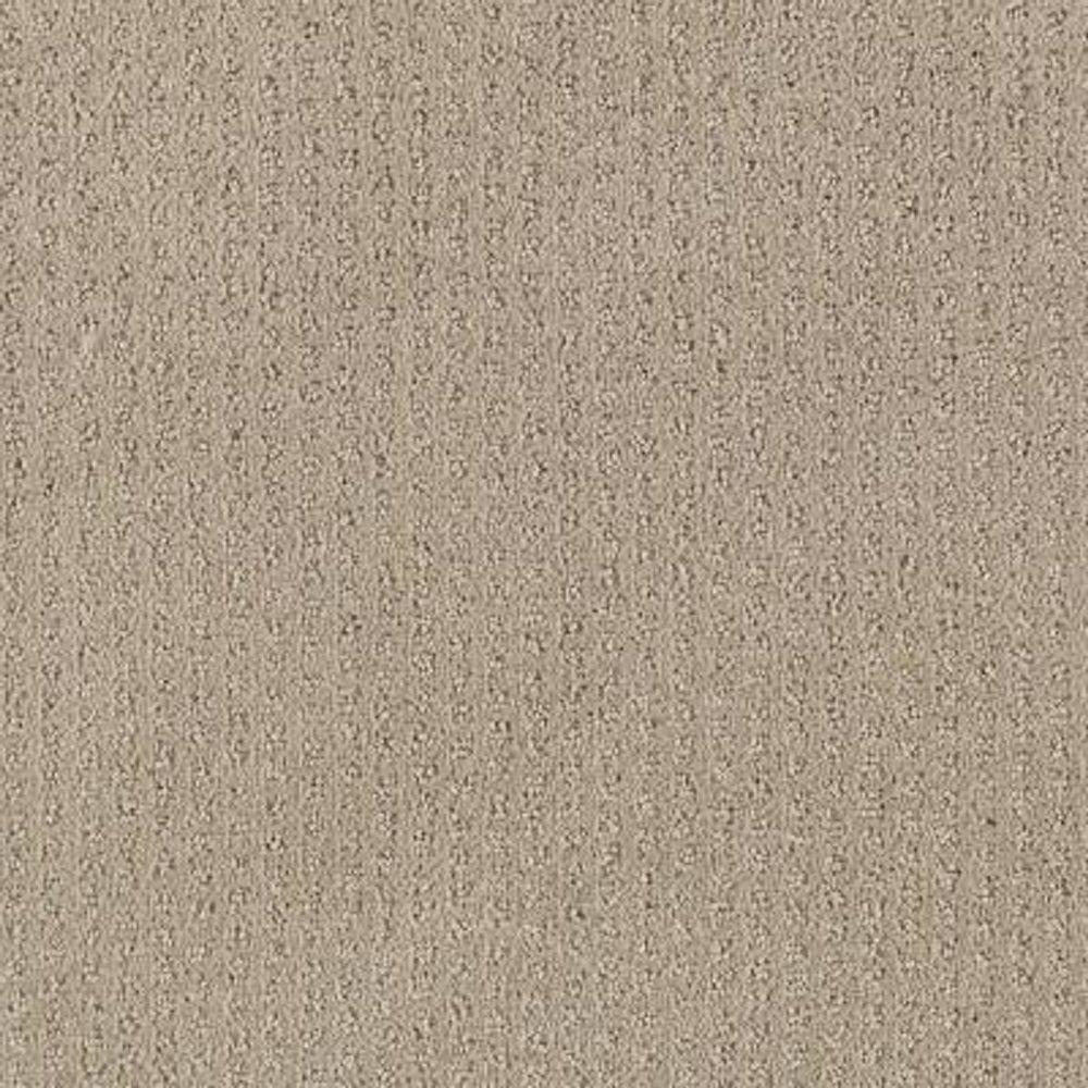 Carpet Sample - Sequin Sash - Color Mission Beige Pattern 8 in. x 8 in.