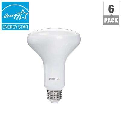 65-Watt Equivalent BR30 Dimmable LED Flood Soft White with Warm Glow Light Effect (6-Pack)