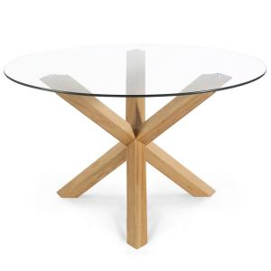 Poly and Bark 48 in. Kennedy Oak Round Dining Table HD-339 ...