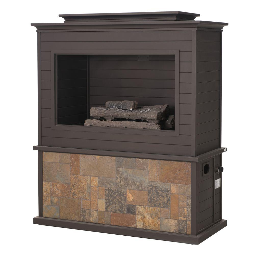 Peachy Sunjoy 63 In Tahoe Steel Fireplace Home Interior And Landscaping Ologienasavecom