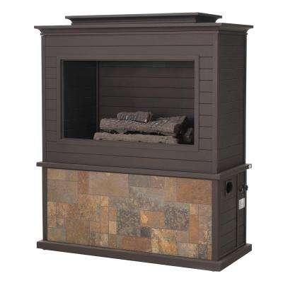 63 in. Tahoe Steel Fireplace