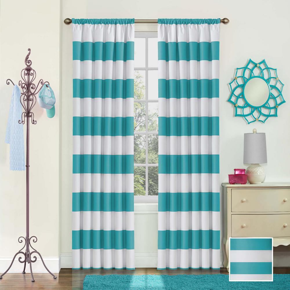 Eclipse Peabody Blackout Window Curtain Panel In Teal
