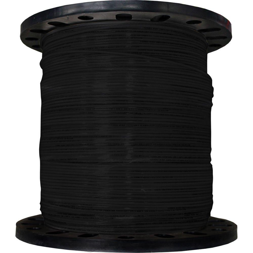 Cerrowire 2500 ft. 12/19 Black Stranded THHN Wire-112-3601M - The ...