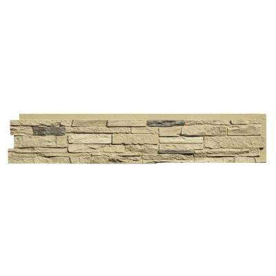 Slatestone 8.25 in. x 43 in. Faux Stone Siding Panel in Sahara (8-Pack)