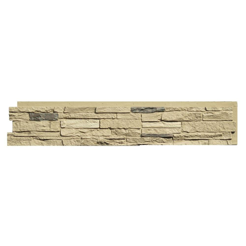 Nextstone slatestone sahara in x 43 in faux stone - Faux stone exterior siding panels ...