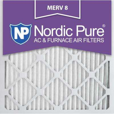 14 in. x 14 in. x 1 in. Dust Reduction Pleated MERV 8 - FPR 6 Air Filter (12-Pack)