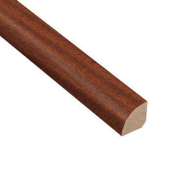 Matte Bailey Mahogany 3/4 in. Thick x 3/4 in. Wide x 94 in. Length Hardwood Quarter Round Molding