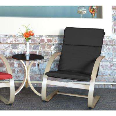 Mia Natural and Black Bentwood Reclining Chair