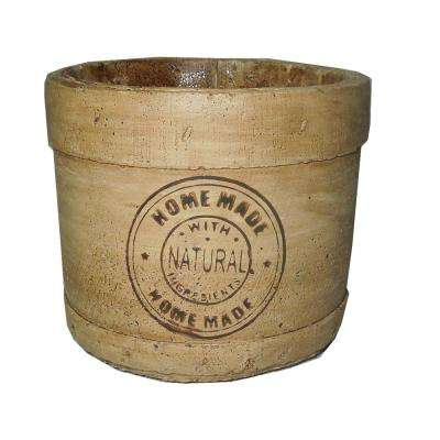 6 in. Faux Basket Tan Where To Buy Planters Peanut Er In Toronto on