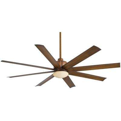 Slipstream 65 in. Integrated LED Indoor/Outdoor Distressed Koa Ceiling Fan with Light with Remote Control