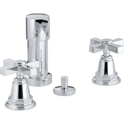 Pinstripe 2-Handle Bidet Faucet in Vibrant Polished Chrome