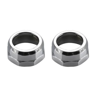 Pair of Bonnet Nuts in Chrome
