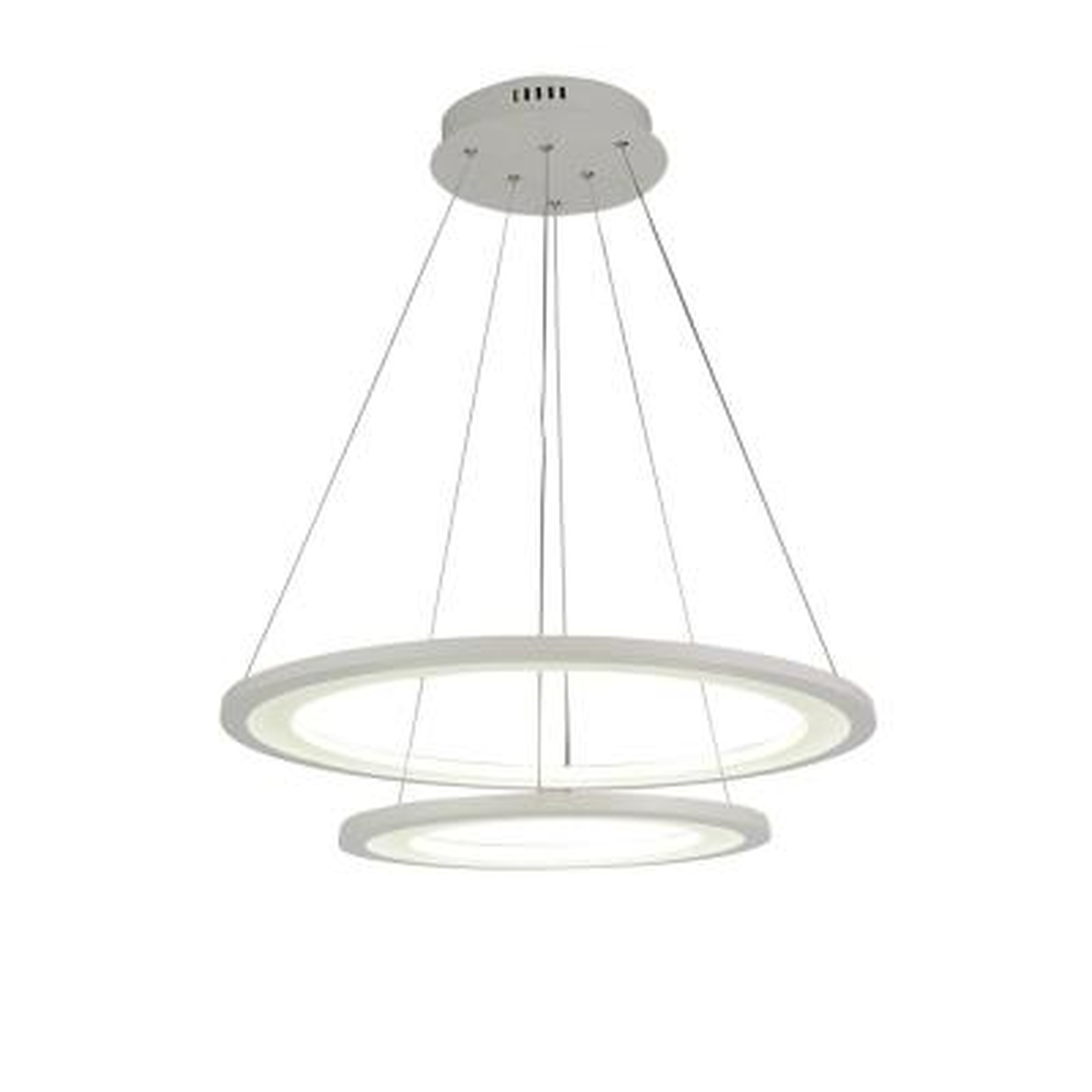 Alloha 50-Watt White Integrated LED Chandelier