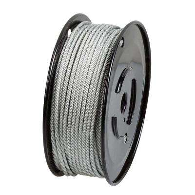 3/32 in. x 500 ft. Galvanized Steel Plated Uncoated Wire Rope